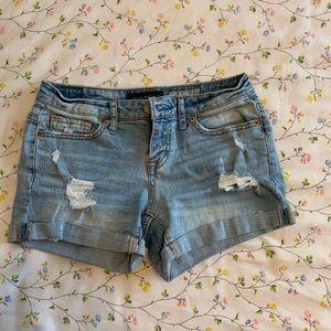 aeropostal jean shorts(: